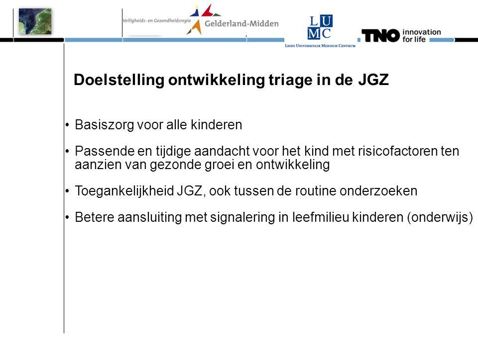 Doelstelling ontwikkeling triage in de JGZ