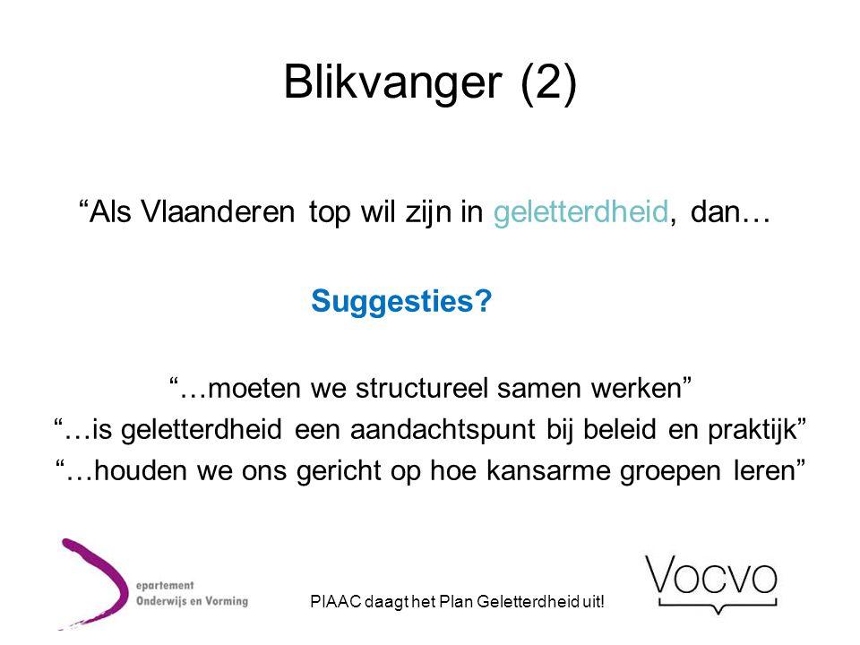 Blikvanger (2) Als Vlaanderen top wil zijn in geletterdheid, dan…