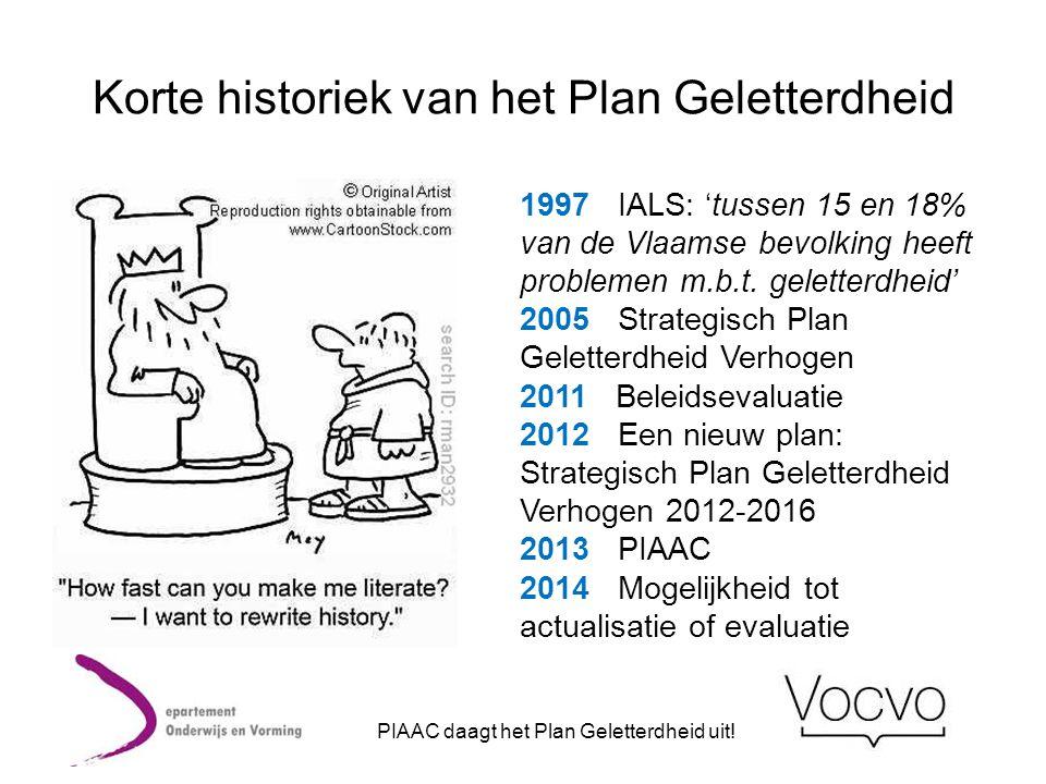 Korte historiek van het Plan Geletterdheid