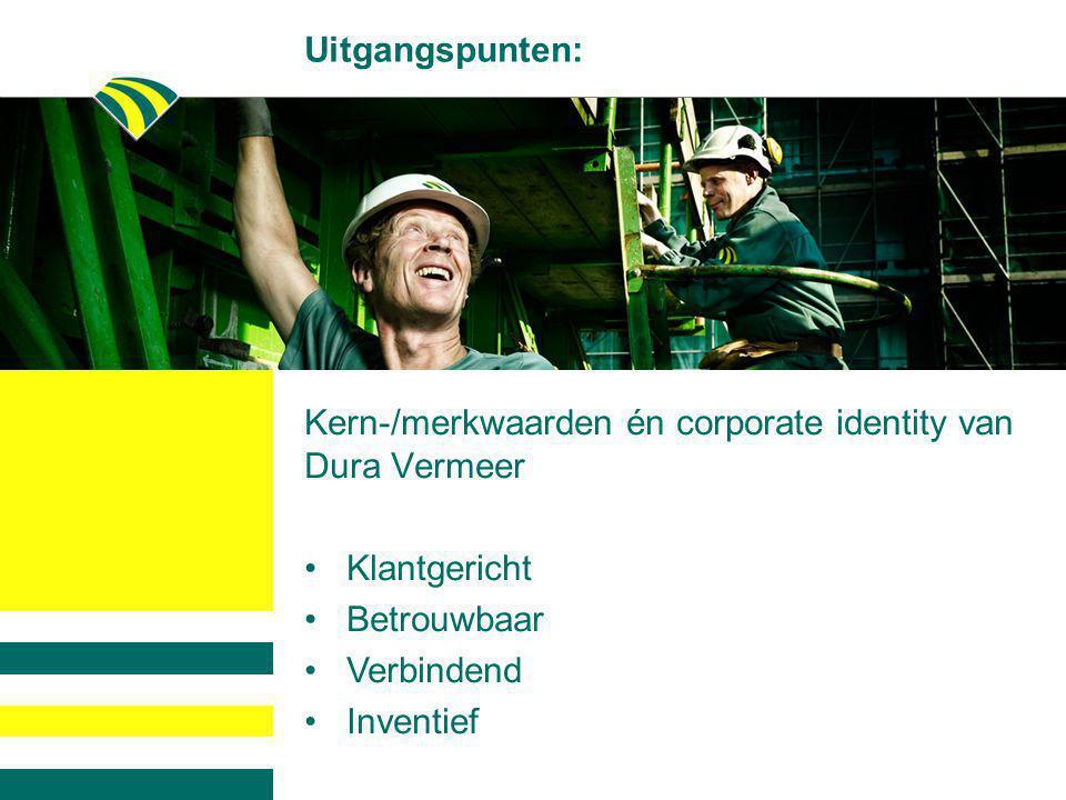 Kern-/merkwaarden én corporate identity van Dura Vermeer
