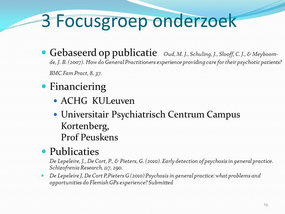 3 Focusgroep onderzoek
