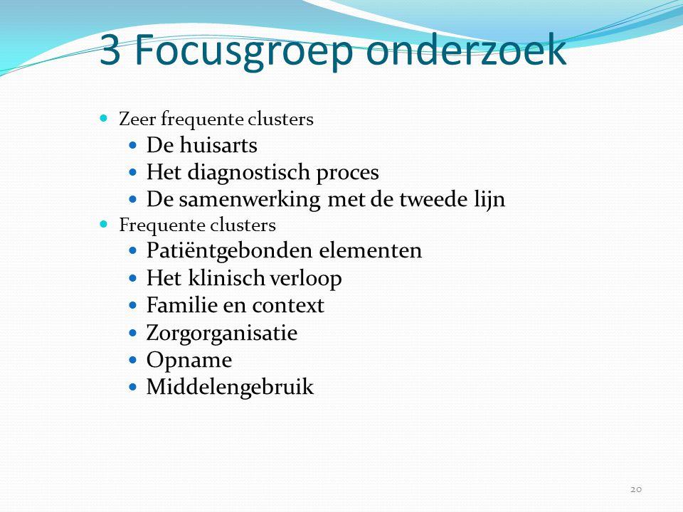3 Focusgroep onderzoek De huisarts Het diagnostisch proces