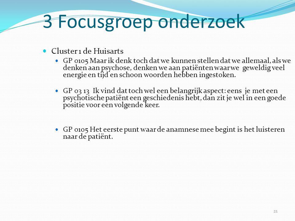 3 Focusgroep onderzoek Cluster 1 de Huisarts
