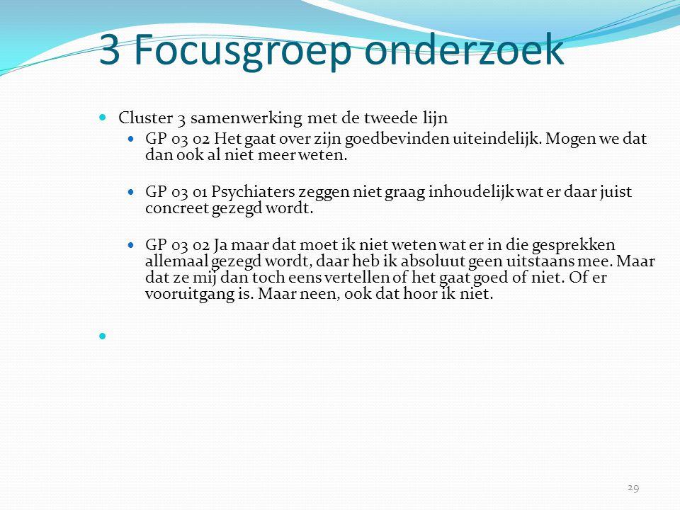 3 Focusgroep onderzoek Cluster 3 samenwerking met de tweede lijn