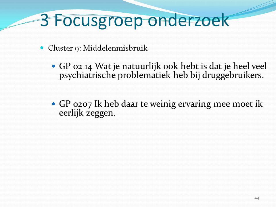 3 Focusgroep onderzoek Cluster 9: Middelenmisbruik.