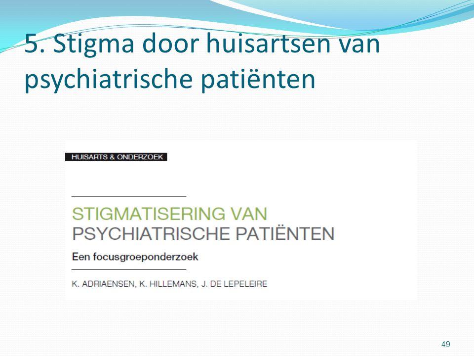 5. Stigma door huisartsen van psychiatrische patiënten