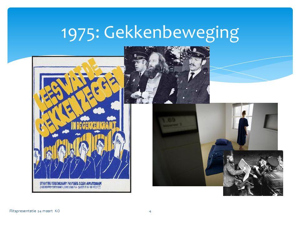 1975: Gekkenbeweging Flitspresentatie 24 maart KO