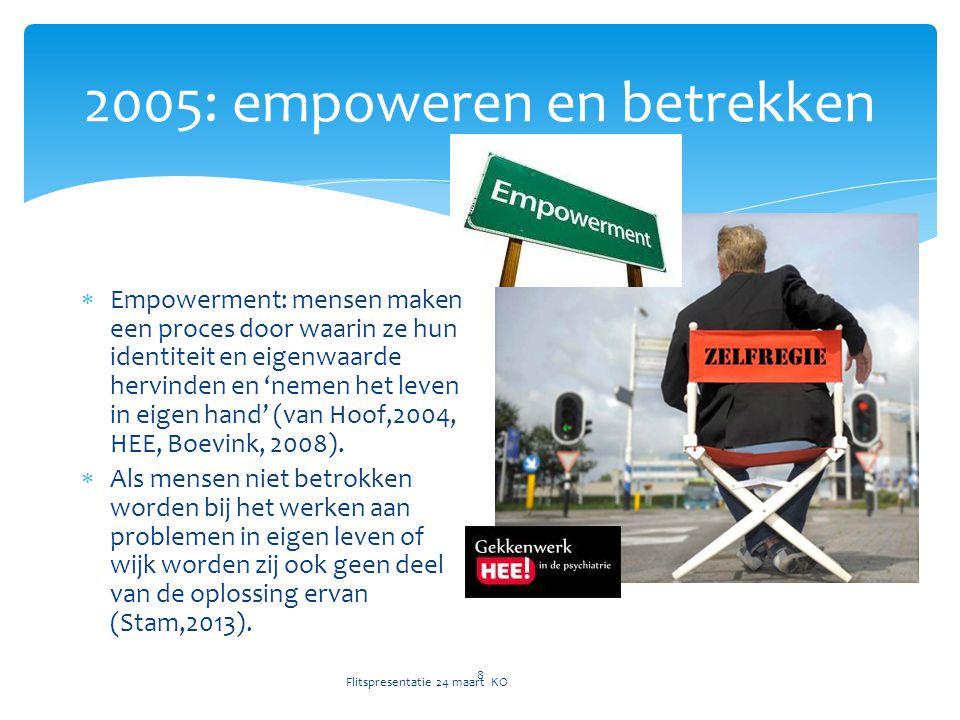 2005: empoweren en betrekken