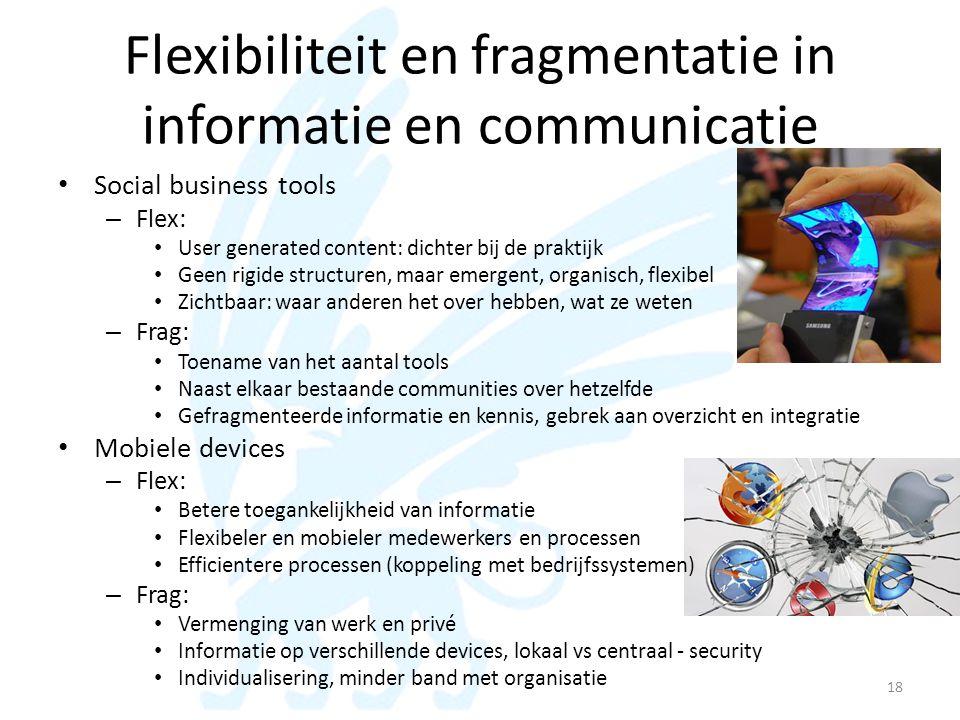 Flexibiliteit en fragmentatie in informatie en communicatie