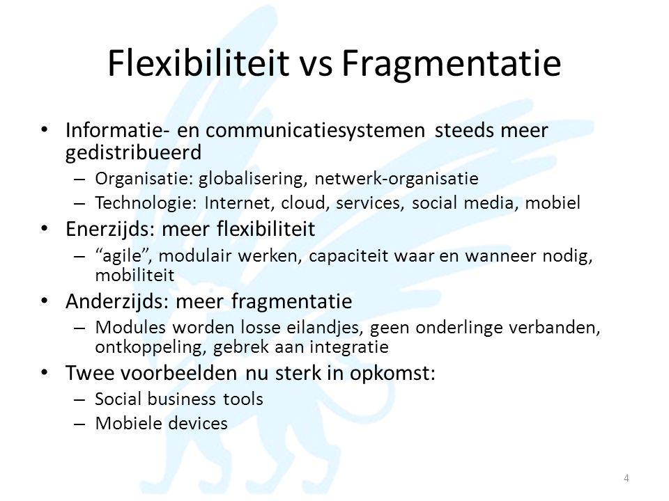 Flexibiliteit vs Fragmentatie