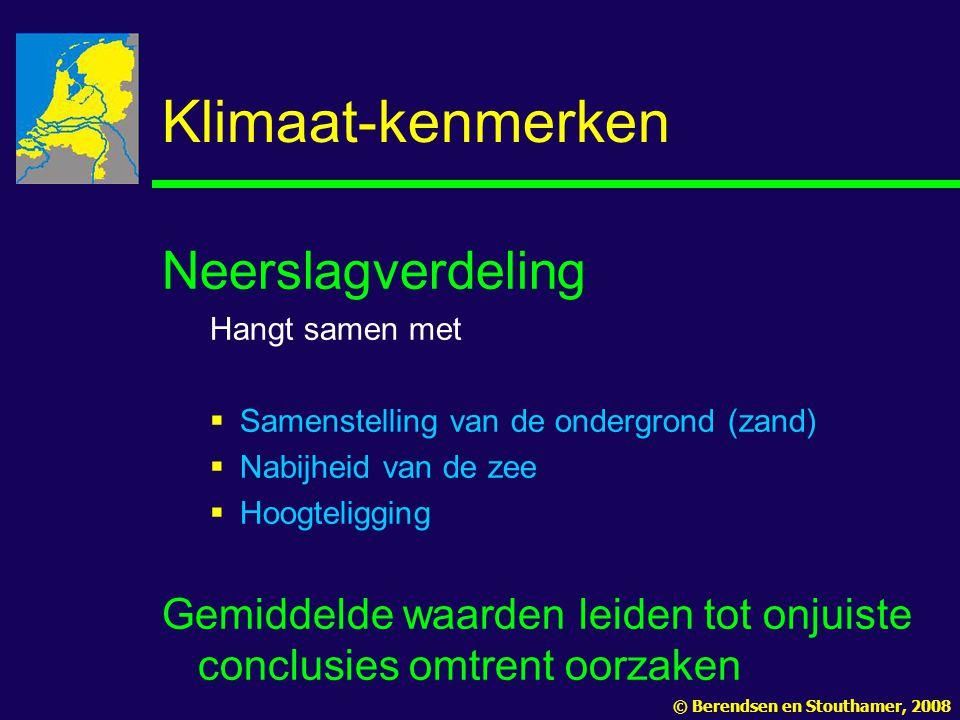 Klimaat-kenmerken Neerslagverdeling