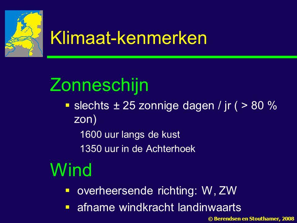 Klimaat-kenmerken Zonneschijn Wind