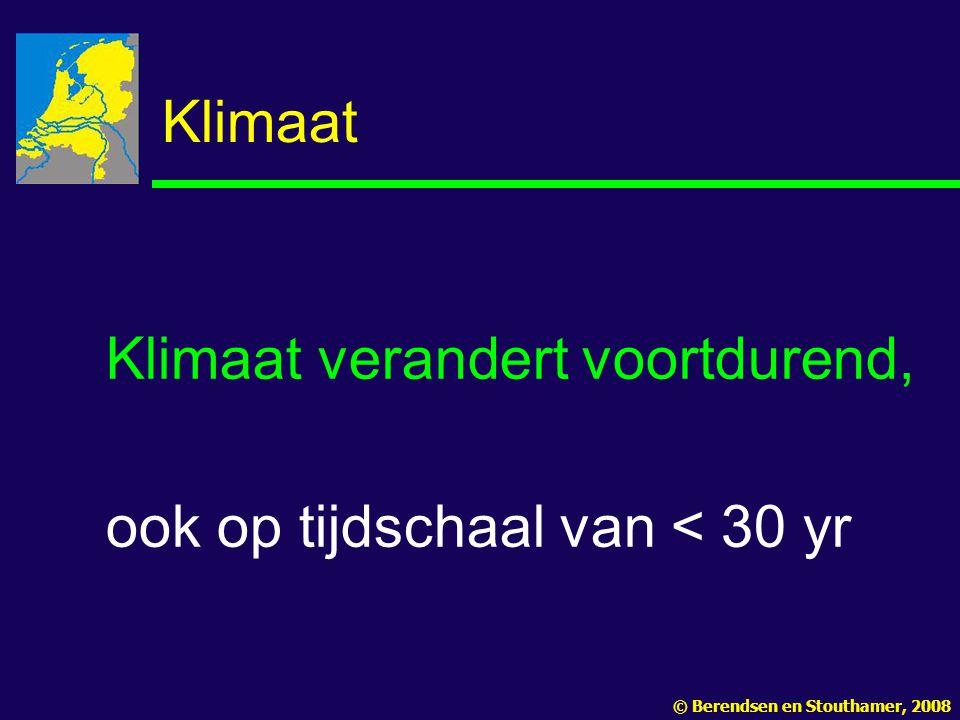 Klimaat verandert voortdurend, ook op tijdschaal van < 30 yr