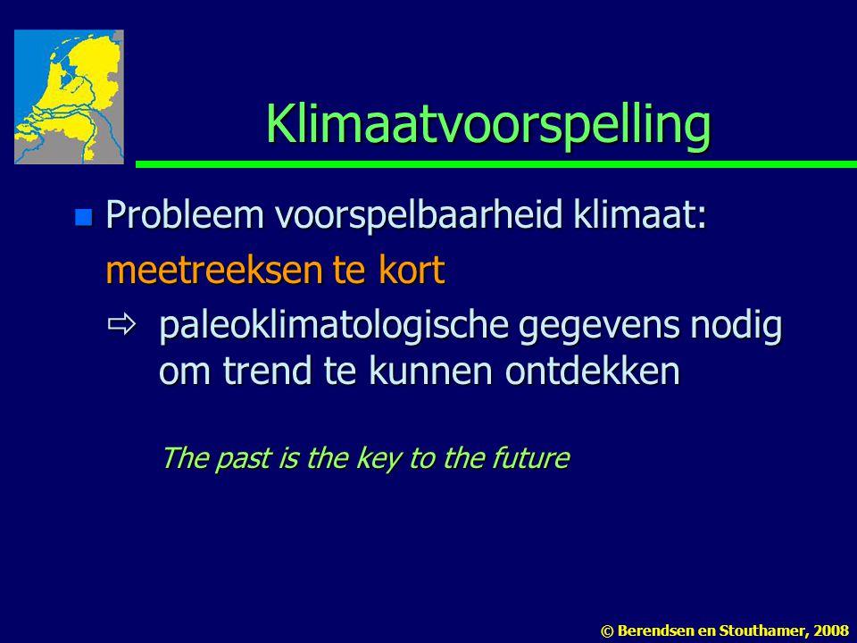 Klimaatvoorspelling Probleem voorspelbaarheid klimaat: