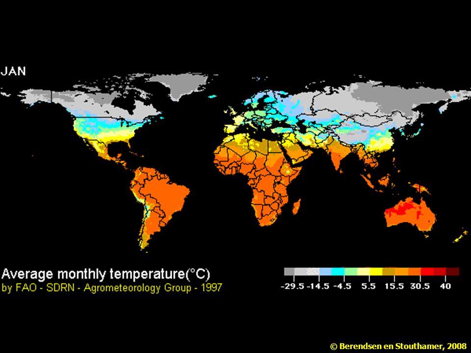 De gemiddelde maandelijkse temperatuur fluctueert met de seizoenen (FAO).