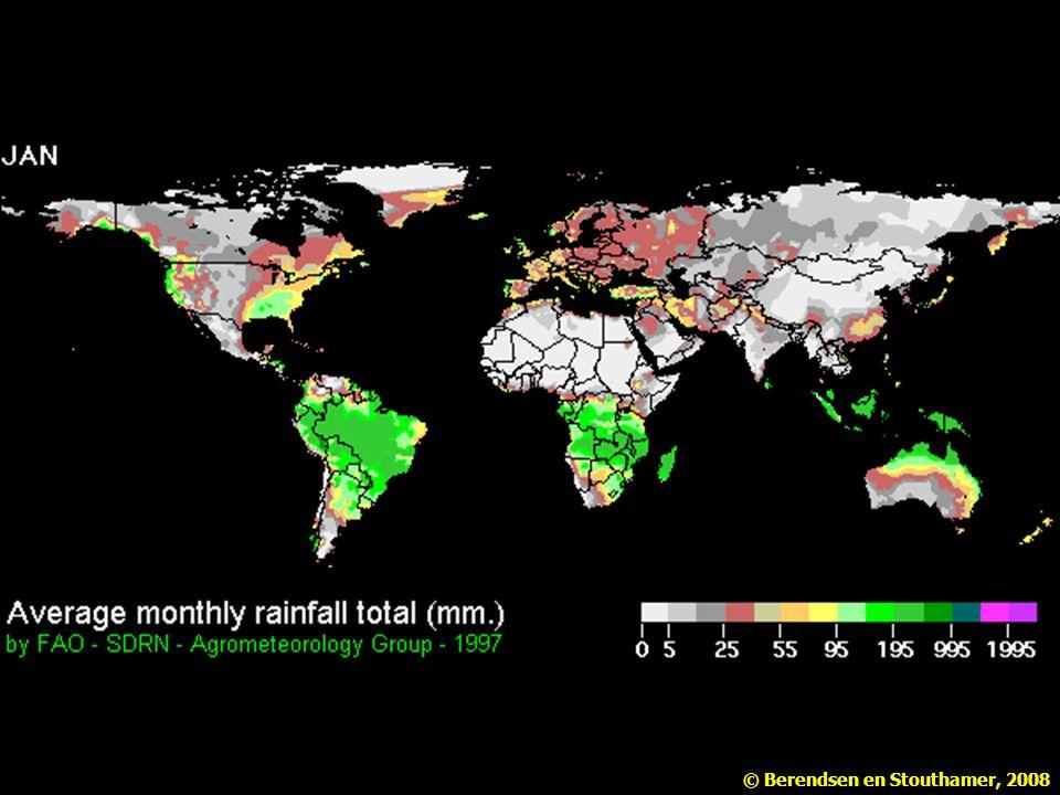 De gemiddelde maandelijkse neerslag fluctueert met de seizoenen (FAO).