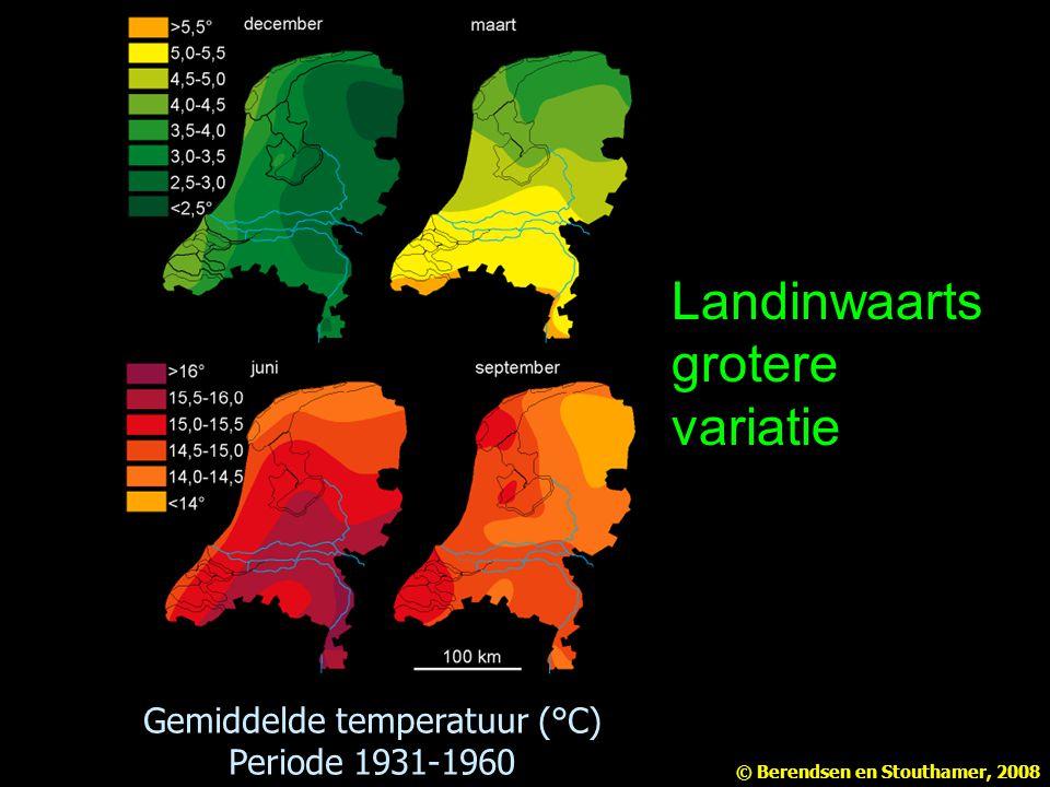 Gemiddelde temperatuur (°C)