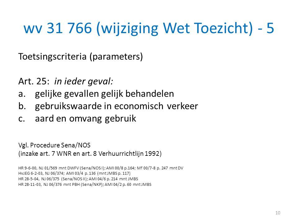 wv 31 766 (wijziging Wet Toezicht) - 5