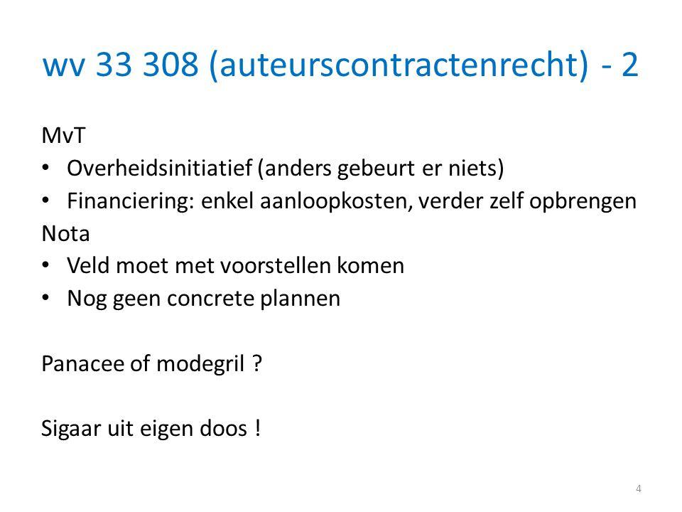 wv 33 308 (auteurscontractenrecht) - 2