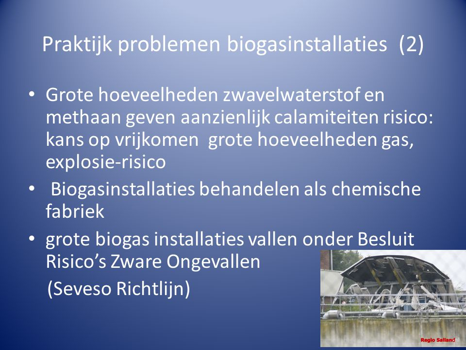 Praktijk problemen biogasinstallaties (2)