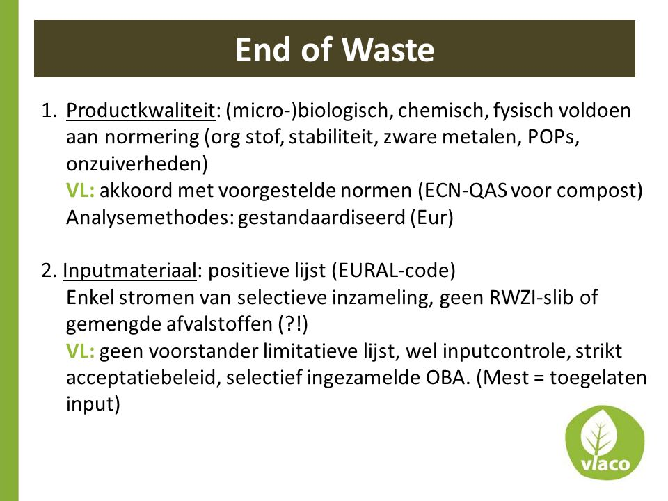 End of Waste