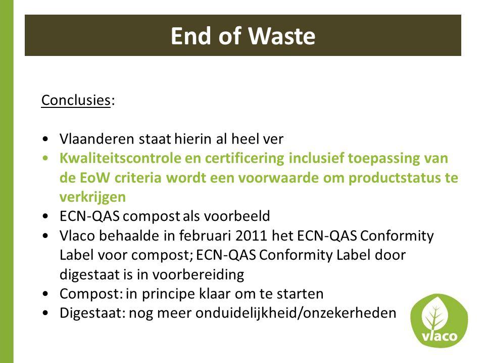 End of Waste Conclusies: Vlaanderen staat hierin al heel ver