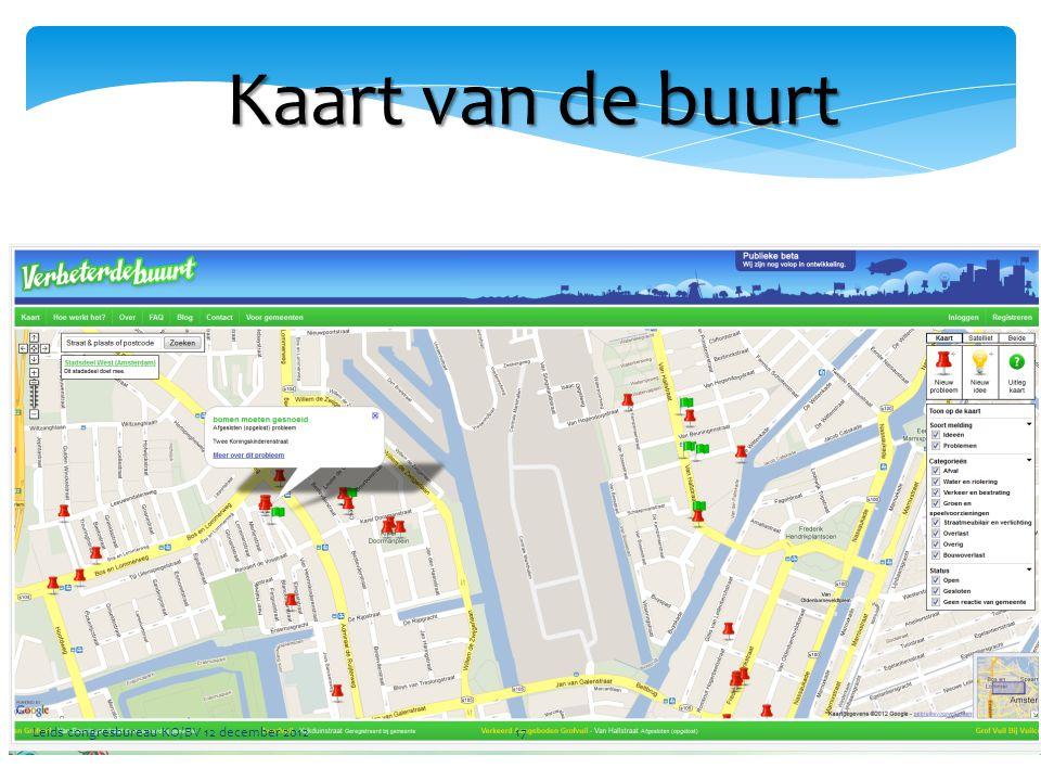 Kaart van de buurt Leids congresbureau KO/BV 12 december 2012