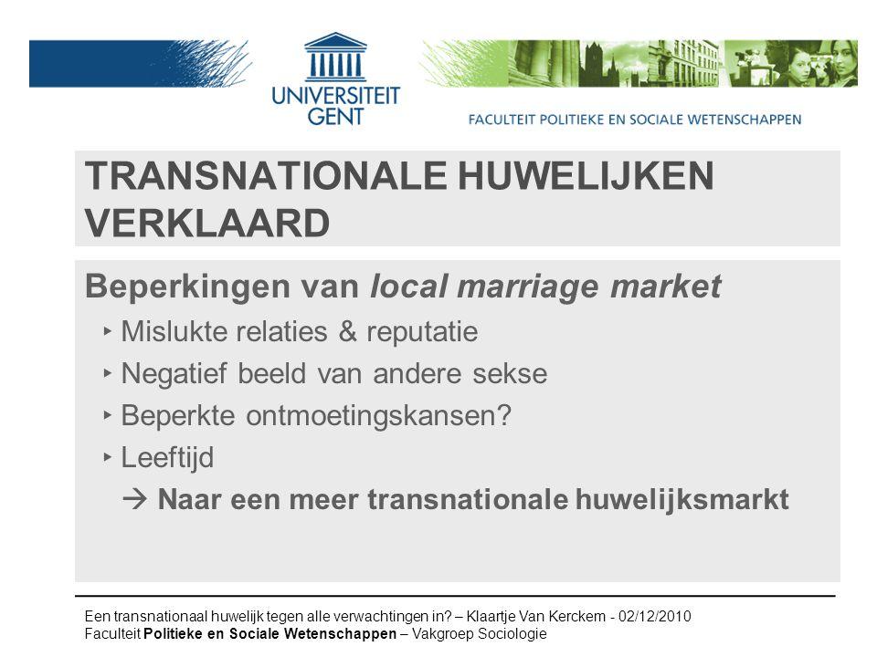 Transnationale huwelijken verklaard