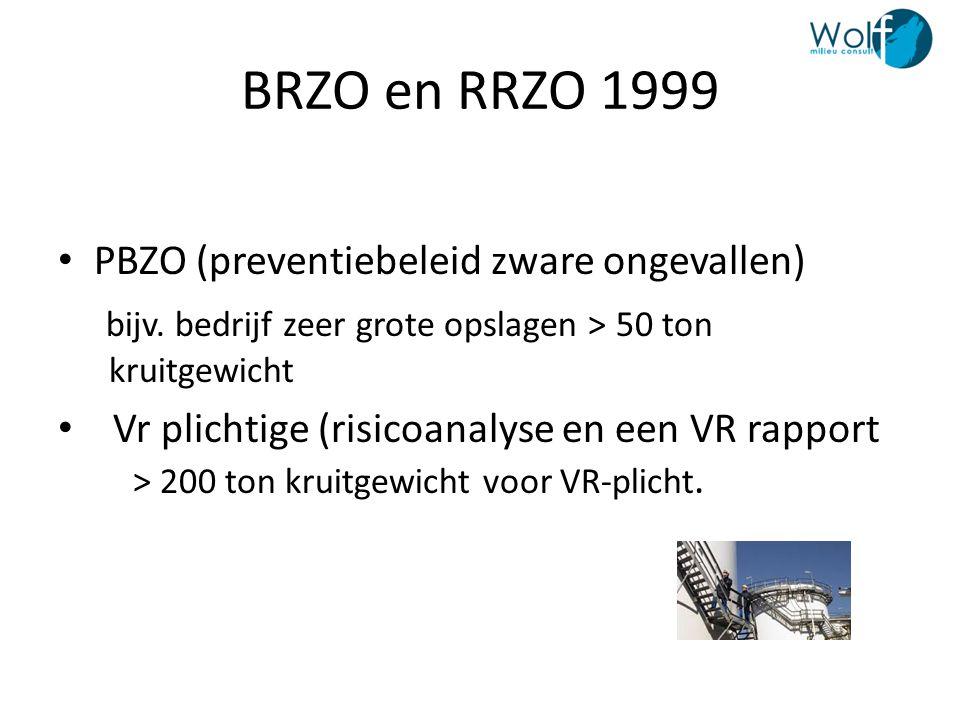 BRZO en RRZO 1999 PBZO (preventiebeleid zware ongevallen)