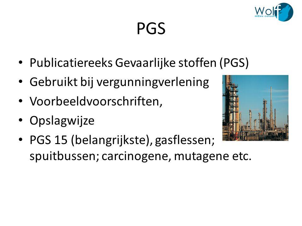 PGS Publicatiereeks Gevaarlijke stoffen (PGS)