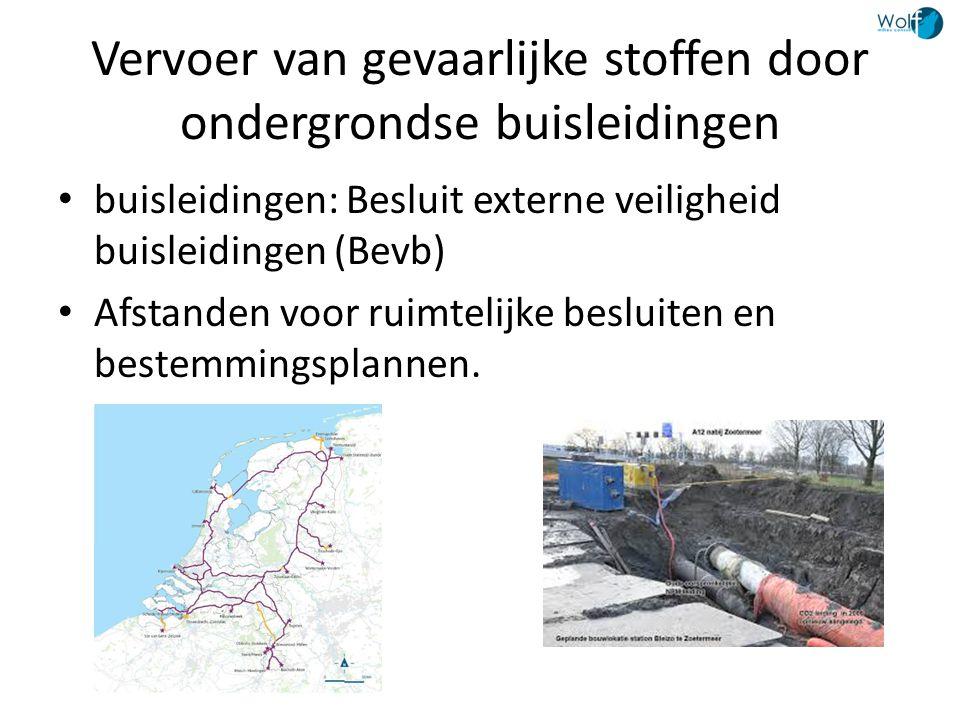 Vervoer van gevaarlijke stoffen door ondergrondse buisleidingen