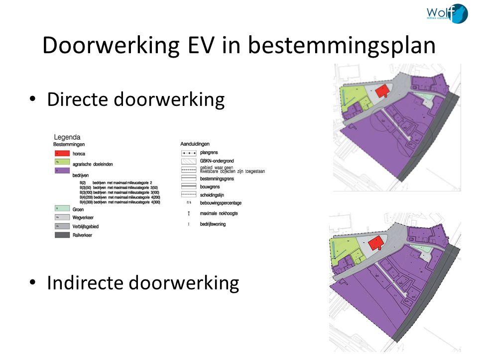 Doorwerking EV in bestemmingsplan