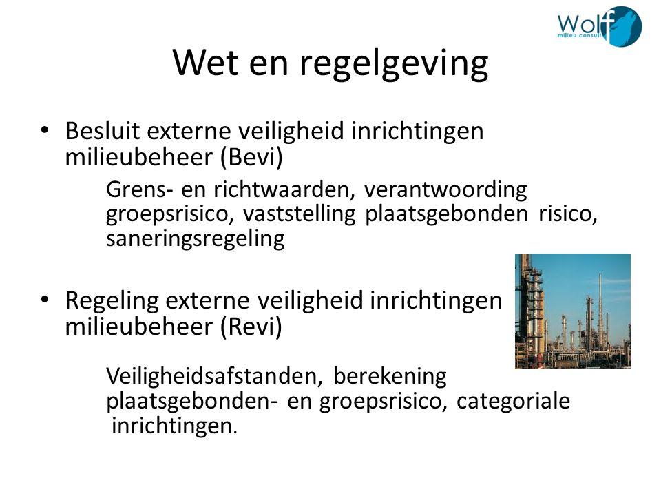Wet en regelgeving Besluit externe veiligheid inrichtingen milieubeheer (Bevi)