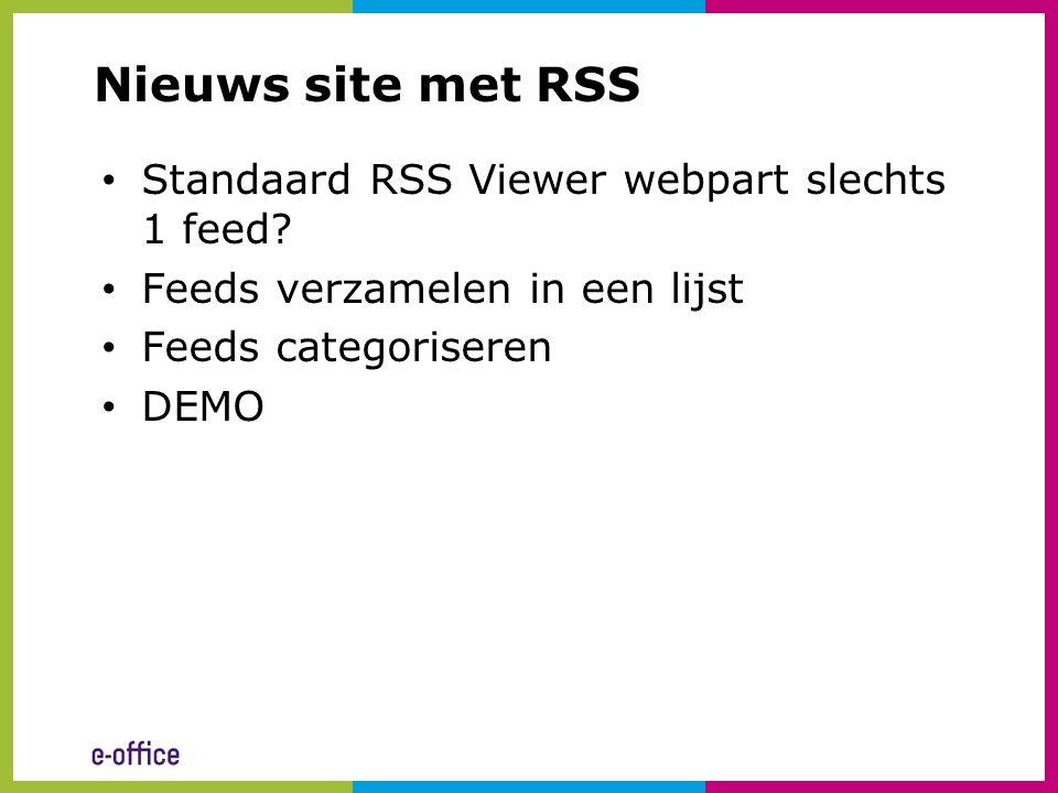 Nieuws site met RSS Standaard RSS Viewer webpart slechts 1 feed