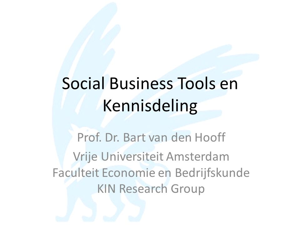 Social Business Tools en Kennisdeling