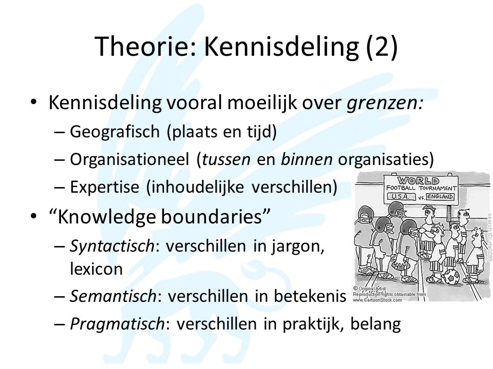 Theorie: Kennisdeling (2)