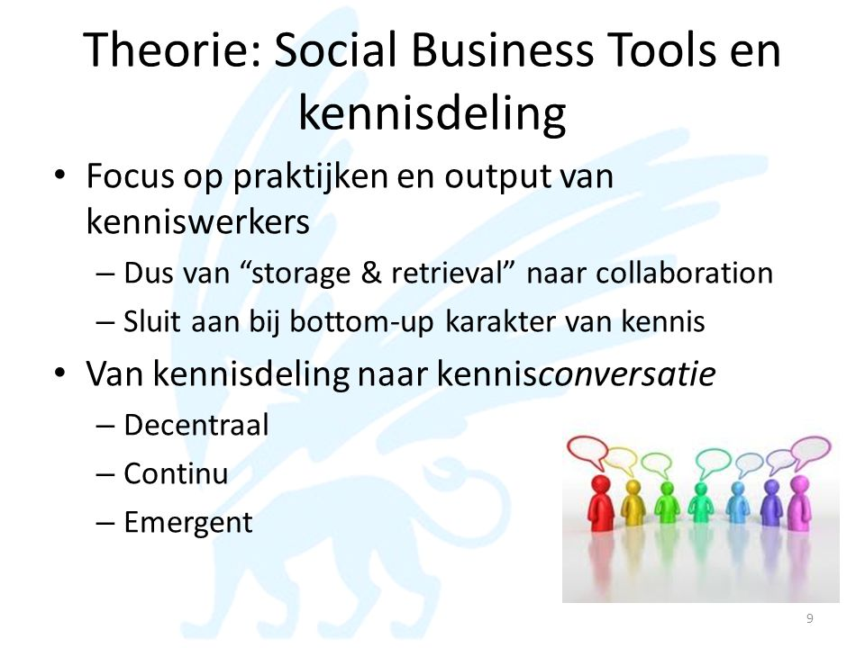 Theorie: Social Business Tools en kennisdeling