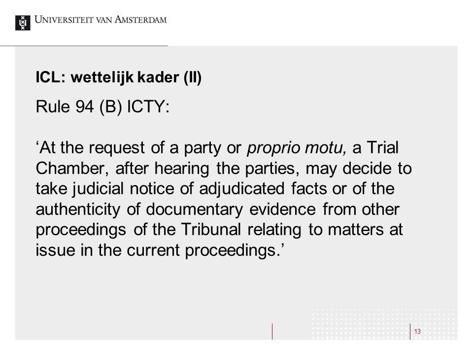 ICL: wettelijk kader (II)