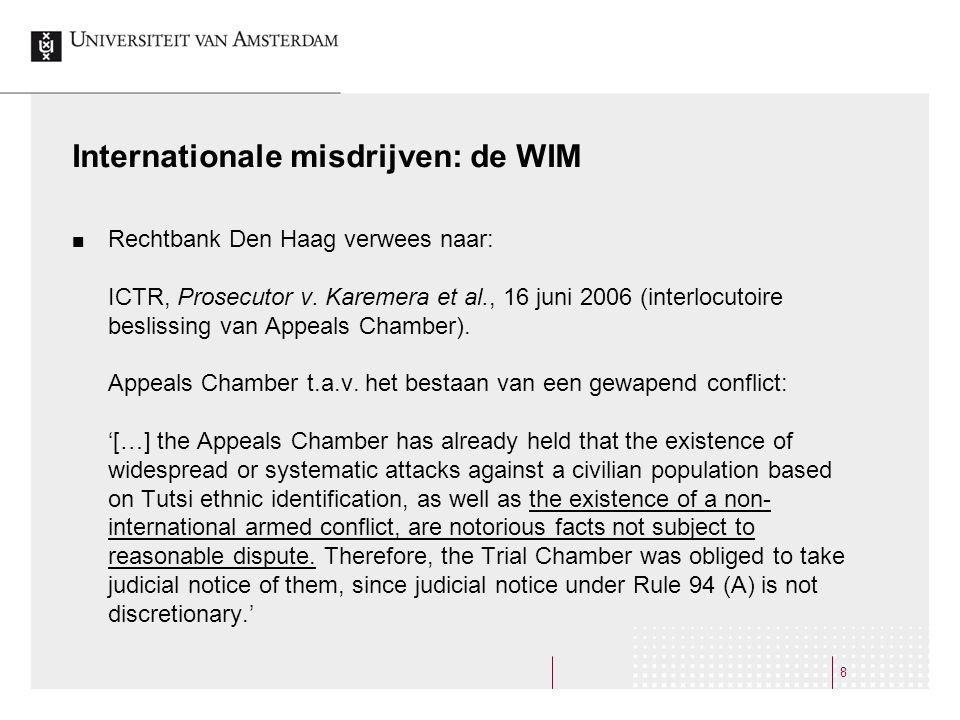 Internationale misdrijven: de WIM