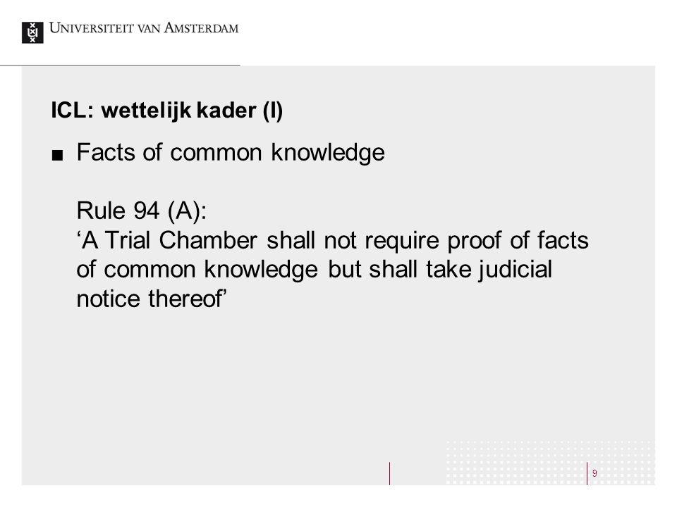 ICL: wettelijk kader (I)