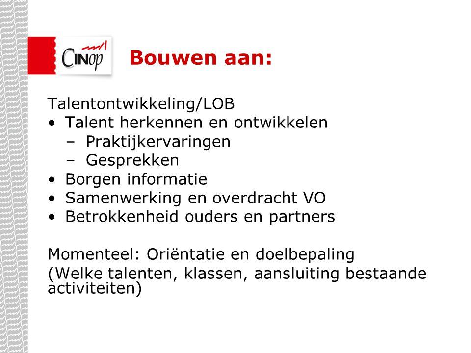 Bouwen aan: Talentontwikkeling/LOB Talent herkennen en ontwikkelen