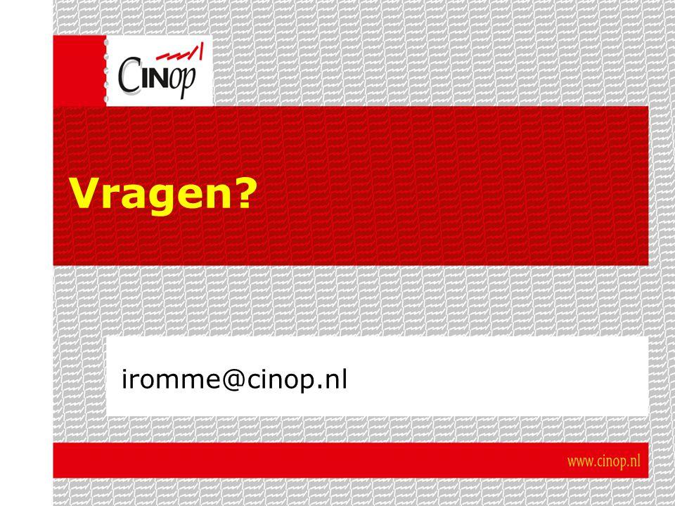 Vragen iromme@cinop.nl