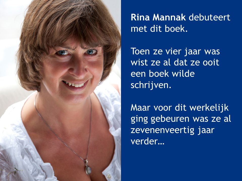 Rina Mannak debuteert met dit boek