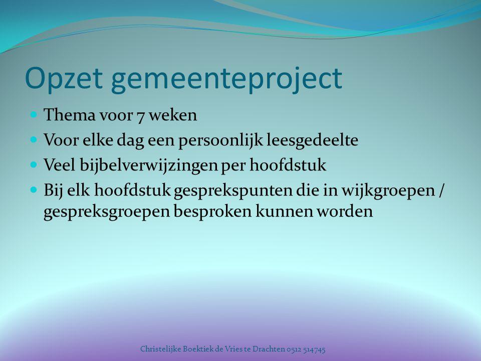 Opzet gemeenteproject