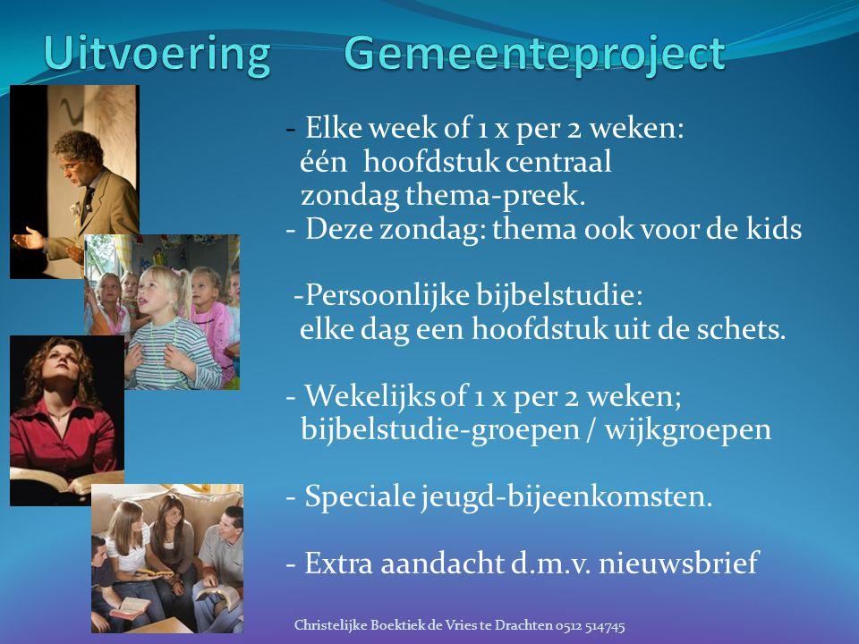 Uitvoering Gemeenteproject