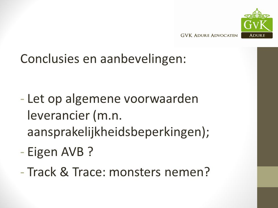 Conclusies en aanbevelingen: