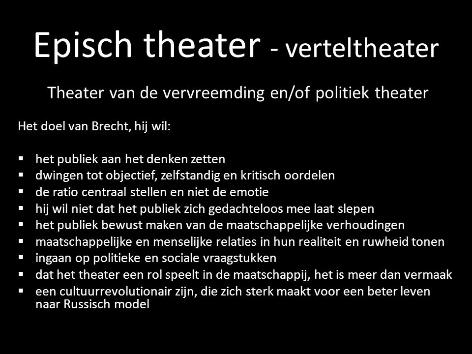 Episch theater - verteltheater