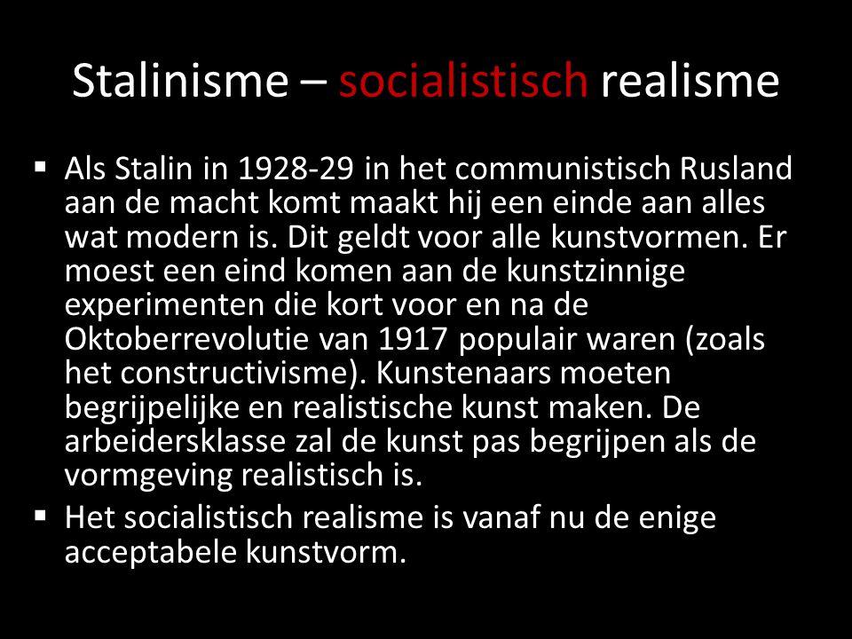 Stalinisme – socialistisch realisme