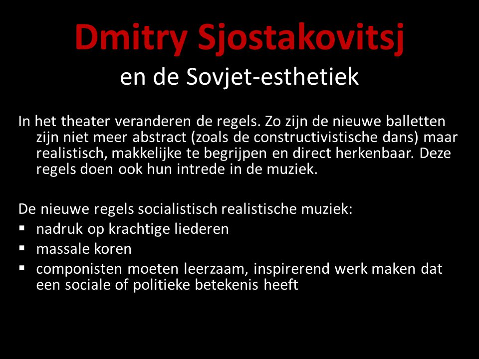 Dmitry Sjostakovitsj en de Sovjet-esthetiek