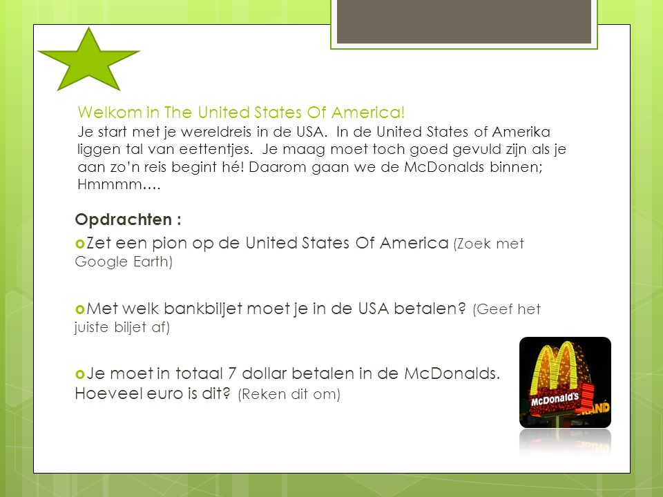Welkom in The United States Of America